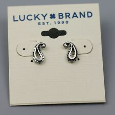 lucky brand woman jewelry vintage silver plated stud earrings cute