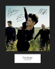 THE SCRIPT #2 10x8 SIGNED Mounted Photo Print - FREE DELIVERY