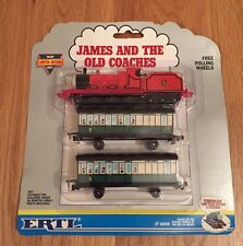 """JAMES & OLD COACHES"" ERTL - THOMAS & FRIENDS - DIE-CAST - BNIB Limited Edition"