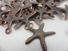 20 x Starfish~tibetan Red Copper charm,bead~scrapbooking,card & jewellery making