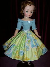 CASHMERE SWEATER AND POLISHED COTTON SKIRT ~ FOR MADAME ALEXANDER CISSY DOLL