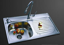 Kitchen Sink 1 bowl - Stainless Steel, 1000ALS (Left hand bowl- Satin finish)