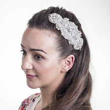Wedding Hair Accessories Bridal Fascinators Vintage Silver Hairpiece H200