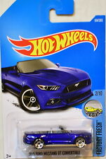 HOT WHEELS 2017 FACTORY FRESH 2015 FORD MUSTANG GT CONVERTIBLE BLUE