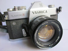 Yashica Electro X Metal 35mm SLR Camera 50mm f1.4 M42 Yahinon Pentax Screw lens