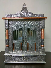 "TEMPLE / OXIDIZED COPPER TEMPLE / POOJA MANDIR / MANDAPAM 9"" X 18"" X 28"" DIY"
