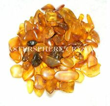 25 x Amber Tumblestones 4mm-10mm A Grade Crystal Resin Gemstone Wholesale Bulk