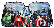 Avengers Car Sun Shade UV Protector Shield Auto Front Window Windshield Folds Up