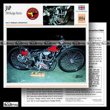 #063.19 JAP 500 RUDGE - MARTIN 1934 (PHIL BISHOP) Speedway Fiche Moto Motorcycle