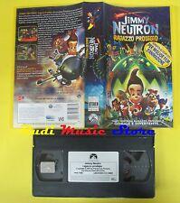 VHS film JIMMY NEUTRON RAGAZZO PRODIGIO 2002 PARAMOUNT PVS 71067 (F49) no dvd