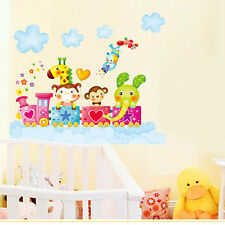 Happy Animal Removable Wallpaper Wall Stickers For Kids Rooms Decal Home Art