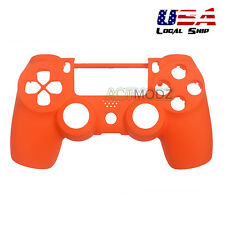 Soft Touch Orange Front Shell Faceplate Repair for Dualshock 4 PS4 Controller