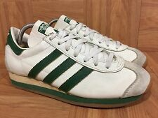 RARE�� Vintage Adidas Country Made In France White Forest Green Gum Sz 5 Men's