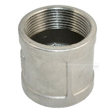 """1.5"""" 1 1/2"""" female to F 304 Stainless Steel threaded coupling Pipe Fitting NPT"""