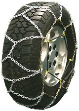 225/60-14 225/60R14 Diamond Back Tire Chains 3.7mm Link Bungee Adjuster Lt Truck
