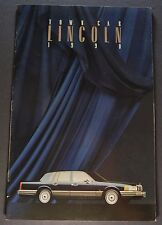 1990 Lincoln Town Car Catalog Brochure Signature Series Excellent Original 90