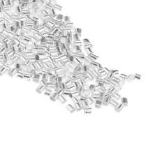 LOT 1000pcs Jewelry Repair Crimps silver plated tube finding End bead 2mm