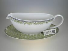 Denby Monsoon Daisy Sauce Boat & Stand 2 PC BRAND NEW