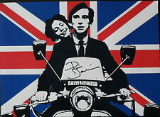 PHIL DANIELS Signed In Person 16x12 QUADROPHENIA Pop Art Scooter Print MODS COA