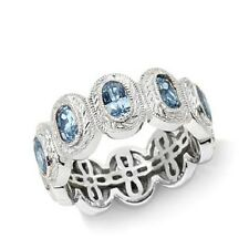 XAVIER ABSOLUTE STERLING SILVER OVAL ETERNITY BAND RING SIZE 6 HSN SOLD OUT