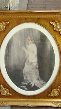 """LOUIS ICART LITHOGRAPH PRINT """"BEDTIME"""" ,PLATE SIGNED IN  CUSTOM ORNATE FRAME"""