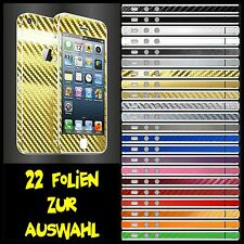 IPHONE 5S FOLIE 2D GOLD CARBON CHROM ( HÜLLE SCHALE CASE BUMPER SKIN )
