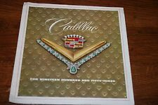 1953 CADILLAC   DEALER  FOLDOUT SALES BROCHURE  ORIGINAL