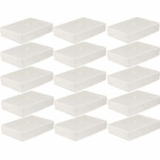 15 X A4 CLEAR PLASTIC BOX HOLDER PAPER STORAGE ENVELOPE CRAFT LEAFLET BOXES NEW