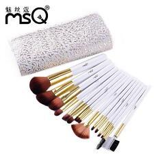 MSQ 15 pcs Kit w/ Professional Style Makeup Brush Set Bag Holder Travel Tools LH