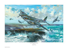 SIMON W. ATACK SIGNED PRINT. 'ON THE WINGS OF THE STORM'. MOSQUITO.