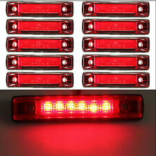 10x 6 LED Clearance Side Marker Light Indicator Lamp Truck Trailer RV Lorry Red