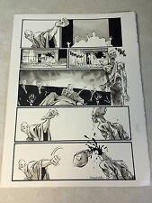 INFINITE KUNG FU original art DECAPITATES ZOMBIE SKELETON, SIGNED, WICKED!!!