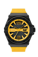 Mens Caterpillar Spirit CAT LC11127137 Yellow Rubber Black Dial Sport Watch