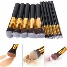 10x Luxury Jessup Cosmetic Makeup Face Powder Foundation Blending Pencil Brushes