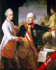 HOLY ROMAN EMPEROR KAISER JOSEPH LEOPOLD II & BROTHER PAINTING ART CANVAS PRINT