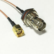 """RP SMA male plug to RP TNC female RF jumper cable RG178 15cm 6"""" for wifi router"""