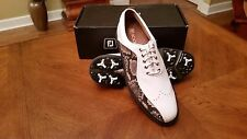 Footjoy FJ ICON Mens Golf Shoes 52277 NEW Wh/Snake 9WD RARE STYLE  $349RET NICE