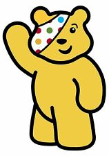 Pudsey Bear Children In Need T shirt Transfer Iron On Charity 2015 Spots A5