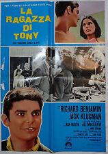 MANIFESTO CINEMA - LA RAGAZZA DI TONY - R. BENJAMIN - 1969 - COMMEDIA