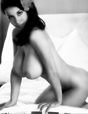 1960s Huge Breasted Model Joyce Gibson Kneeling on bed 8 x 10 Photograph