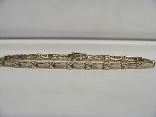 Deal Of the Day 10K Yellow Gold Diamond Hugs And Kisses Tennis Bracelet R6099