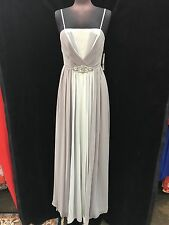 ELIZA J DRESS/SIZE 12/SILVER GREY/NEW WITH TAG/RETAIL$269/LONG GOWN/