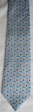 BROOKS BROTHERS COUNTRY CLUB LIGHTHOUSES BLUE SILK TIE
