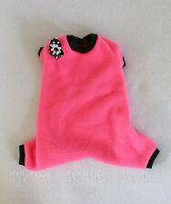 S Hot Pink Fleece Dog Pajamas clothes Pjs pet apparel Clothing Small Pc Dog®