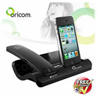 ORICOM CORDLESS BLUETOOTH DESK PHONE HANDSET & CHARGER FOR iPHONE 4 4s BLACK