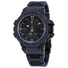Casio Aviation Black Dial Blue Resin Strap Mens Watch GWA1000FC-2A