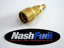 "FULL FLOW BRASS 1-5/16"" ACME QCC TO 1/4"" NPT MALE BBQ GRILL PROPANE TANK ADAPTER"