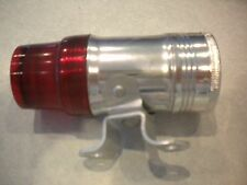 VINTAGE OXFORD BICYCLE BACK LIGHT, NOS,  CHROME, RED LENS, D CELL