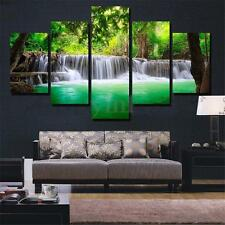 5 Panels Waterfall Canvas Print Art Painting Wall Picture Home Decor Unframed