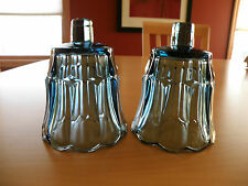 Set of 2 HOMCO Home Interiors Smoky Dark Blue Starlite Votive Cup Candle Holder